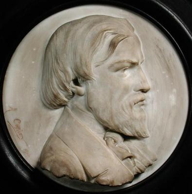 Relief medallion of Frederic Ozanam