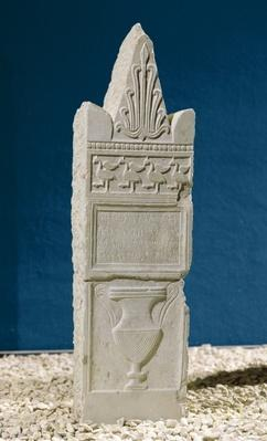 Votive stele with a triangular pediment