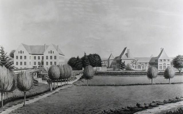 View of the Two Mills of Angecourt, founded in 1812 by Baron Neuflize