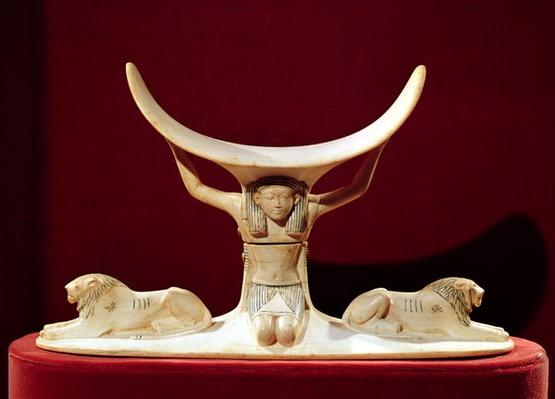 Headrest with Shu, the Egyptian God of the Air, from the Tomb of Tutankhamun, New Kingdom