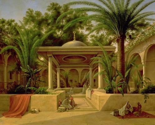 The Khabanija Fountain, Cairo, 1845