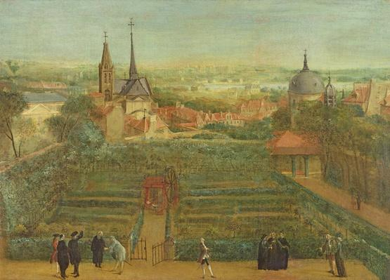 The Gardens of the Fathers of Christian Doctrine and the Abbey of St. Victor