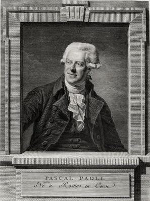 Portrait of Pascal Paoli, engraved by Benoit Louis Henriquez