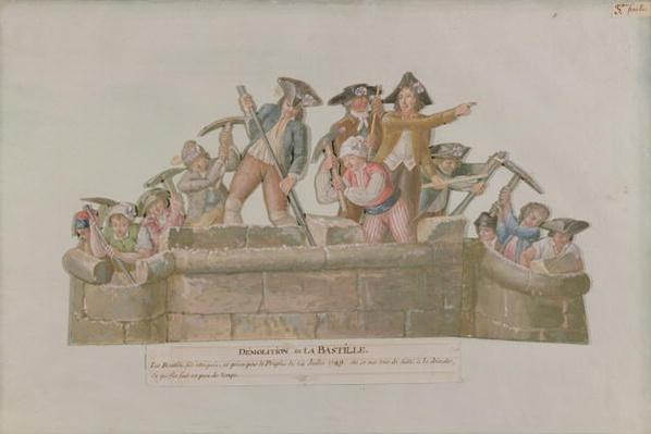 The Demolition of the Bastille, July 1789