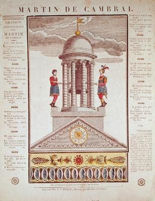 Illustrated lyric sheet for 'Martin de Cambrai'