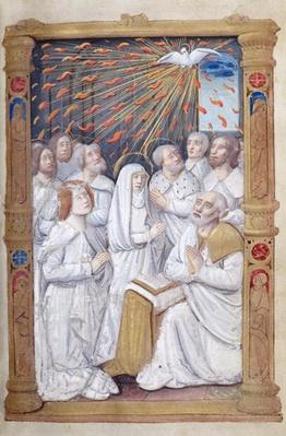 Fol.48r Pentecost, from 'Heures a l'Usage de Rome'