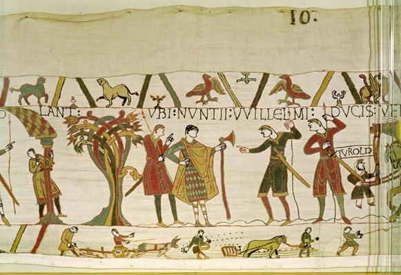 Envoys from Duke William are Sent to Count Guy of Ponthieu, detail from the Bayeux Tapestry, before 1082