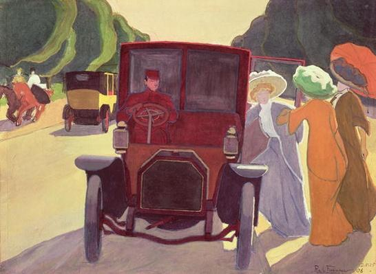 The Road with Acacias, 1908 by La Fresnaye, Roger de (1885-1925)