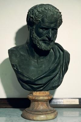 Bust of Democritus (Abdera, ca 460 BC - ca 360 BC), pre-Socratic philosopher | Famous Mathematicians