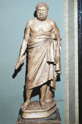 Statue of Zeno of Elea (489 BC - 431 BC), Greek philosopher and mathematician | Famous Mathematicians
