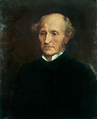 Portrait of John Stuart Mill (1806 - 1873), British philosopher and economist | The Study of Economics