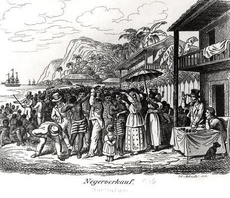 Slave Market in Martinique