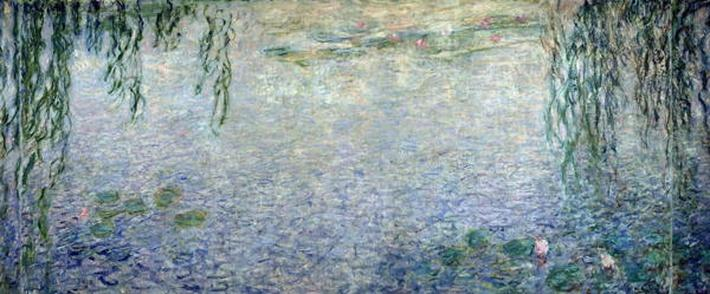 Waterlilies: Morning with Weeping Willows, detail of the central section, 1915-26