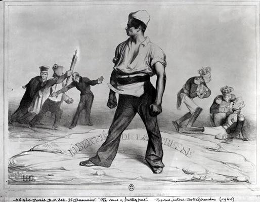Freedom of the Press, illustration from 'L'Association Mensuelle', 1834