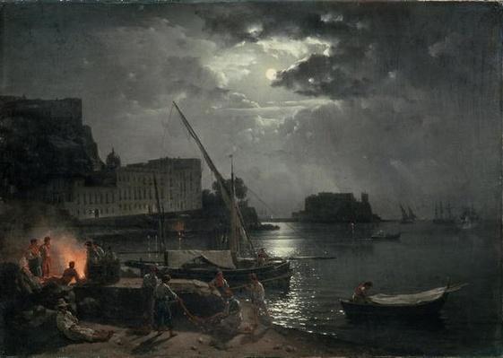 View of Naples in Moonlight, 1829