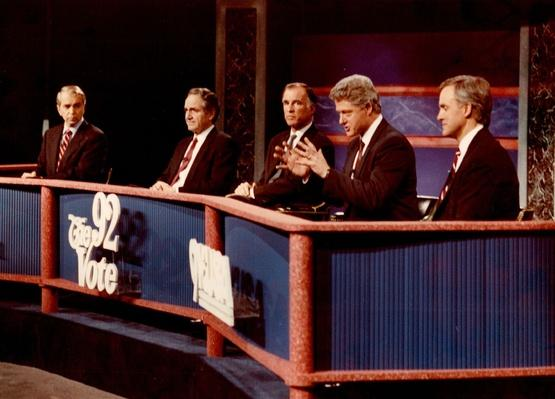 Democratic Presidential Candidates at the March 1 Debate in Denver | U.S. Presidential Elections: 1992