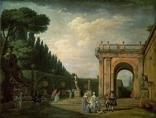 The Gardens of the Villa Ludovisi, Rome, 1749