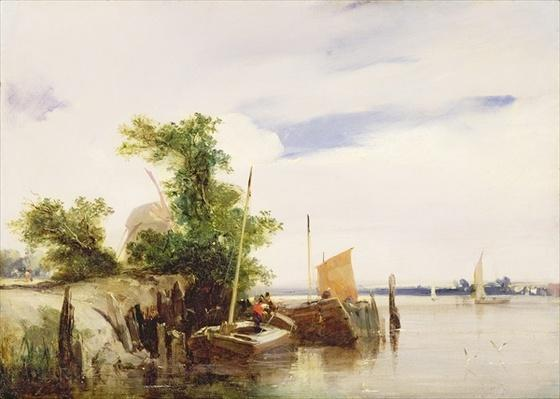 Barges on a River, c.1825-26