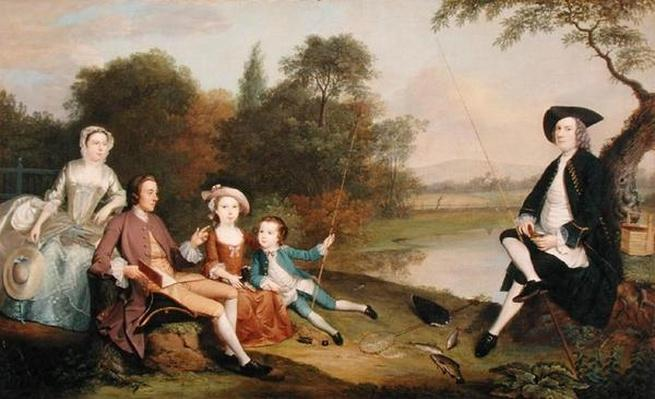 Portrait of a Family, traditionally known as the Swaine family of Fencroft, Cambridgeshire, 1749