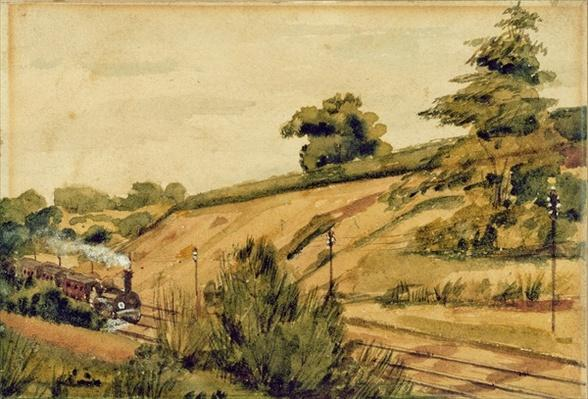 Landscape with Train, 1854