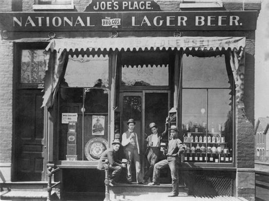 Men in Front of Joe's Place Bar | Ken Burns: Prohibition