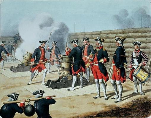 'L'Artillerie Francaise' by Moltzheim, Artillery of the Corps Royal in 1772