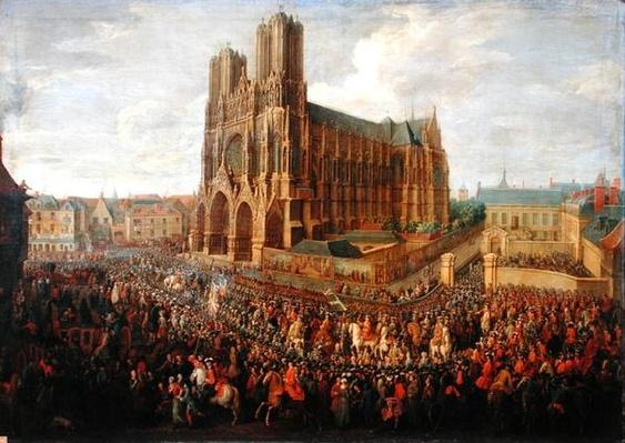 The procession of King Louis XV