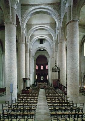 View of the nave, looking towards the altar
