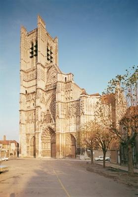 General view of the west facade, built 13th-14th century