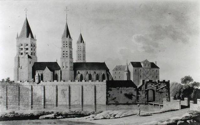 View of the Abbey of Saint-Germain-des-Pres at the start of the 15th century
