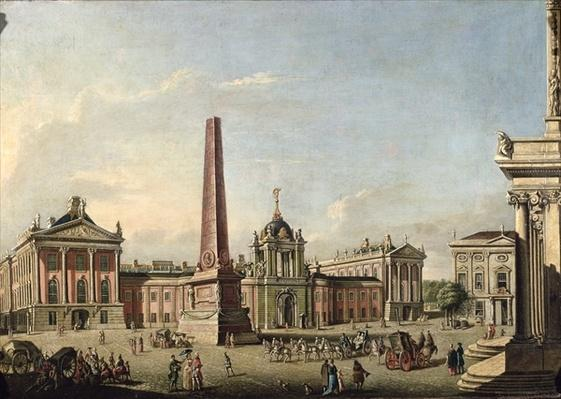 View of the Old Market and the Front Gate of the Schloss Sanssouci, 1773