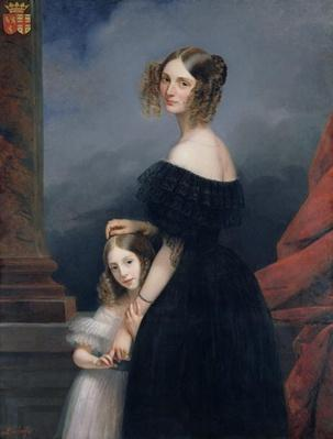 Portrait of Anne-Louise Alix de Montmorency, with her daughter, c.1840