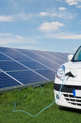 Cord From Solar Panels Powering Electric Car | Earth's Resources
