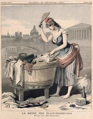 'Marianne, the Queen of the Washerwomen', from 'Le Petit Journal', 25th February 1893