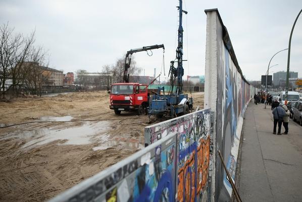 Berlin Wall Section To Make Way For Development | Berlin Wall | The 20th Century Since 1945: Postwar Politics