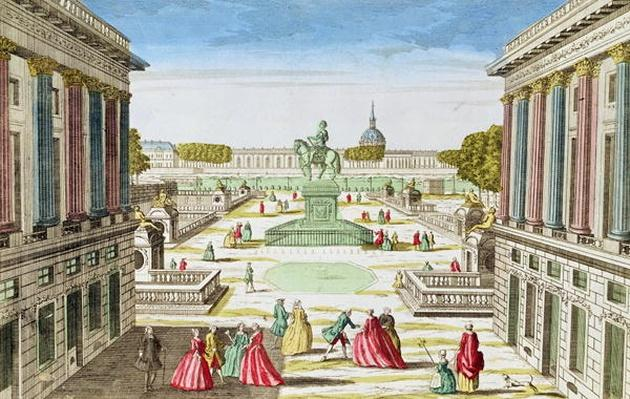 Perspective View of Place Louis XV from Porte Saint-Honore