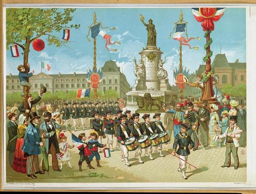 March-Past in the Place de la Republique, 14th July 1880