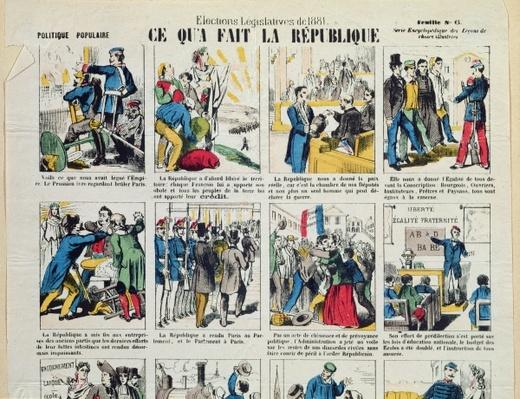 Republican propaganda in support of the foundation of the Third Republic, c.1881