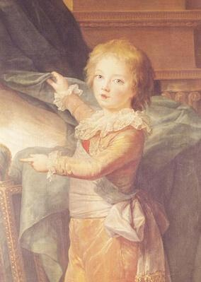 Marie-Antoinette and her Children, detail of Louis-Joseph-Xavier
