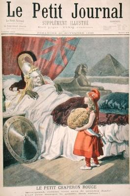 Little Red Riding Hood or France losing Fachoda to England, illustrated title page from 'Le Petit Journal', 20th November 1898