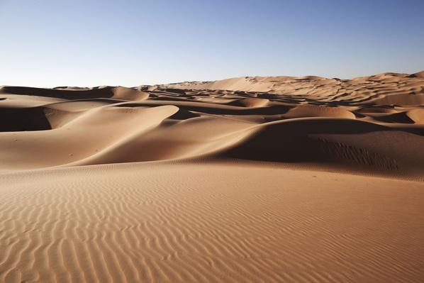 Desert Sand Dunes at Liwa Oasis Uae | Earth's Surface