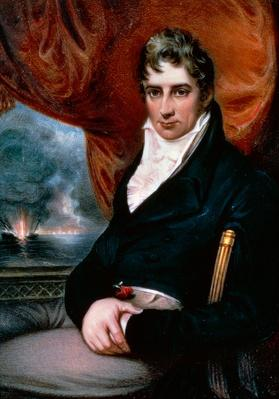 Portrait of Robert Fulton (1765-1815), American engineer, inventor of steamboat | Industrial Revolution