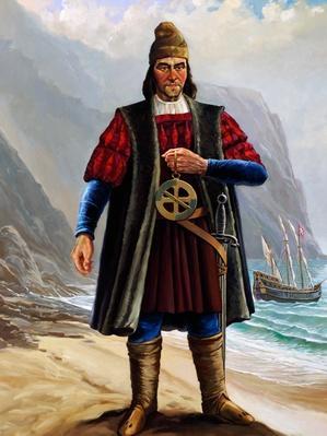 Portrait of Bartolomeu Dias (1450-1500), Portuguese navigator | Famous Explorers