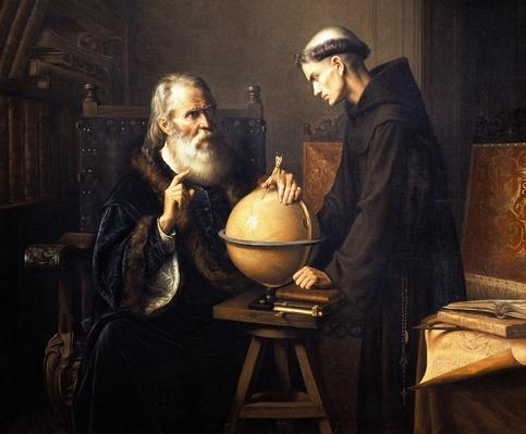 Portrait of Galileo Galilei (1564-1642) at Padua University | Famous Philosophers