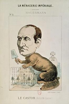 Caricature of Baron Georges Eugene Haussmann