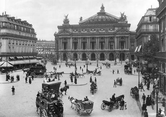 General view of the Paris Opera House, late 19th century