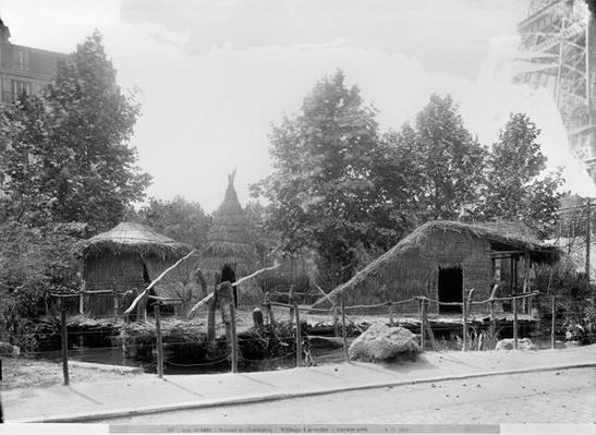 Lakeside village at the Universal Exhibition of 1889 in Paris, architect Charles Garnier