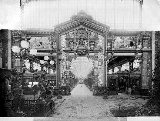 Portico of fabric at the Universal Exhibition of 1889 in Paris