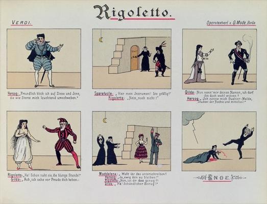 Scenes from the Opera 'Rigoletto' by Giuseppe Verdi