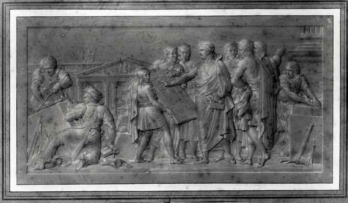 Improvements for Paris, study for a low relief, early 19th century